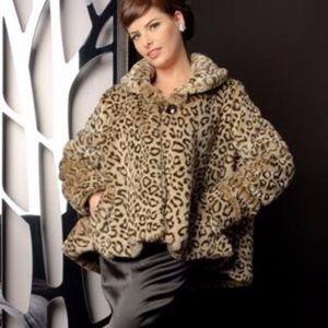 NWT Leopard Print swing coat Laura Byrnes 2x